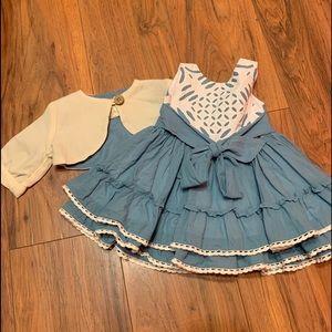12m VVGUC dress. & 18m bolero VVGUC both by WDW
